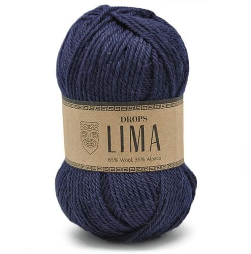 Drops Lima Uni Colour 9016 Navy-blue