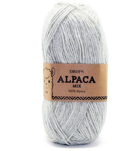 Drops Alpaca Mix 9020 Zeer-lichtgrijs
