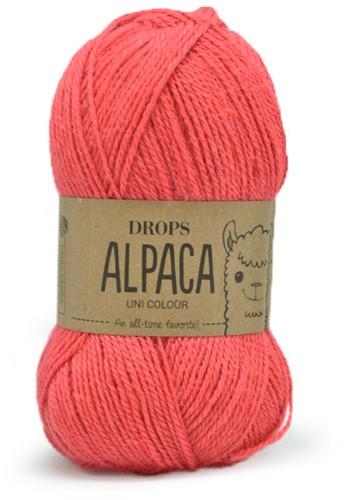 Drops Alpaca Uni Colour 9022 Coral
