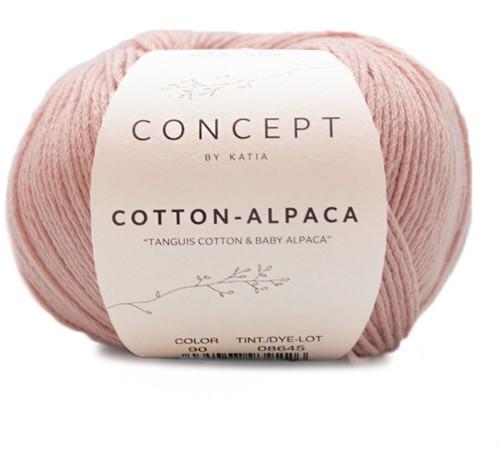 Katia Cotton Alpaca 90 Salmon pink