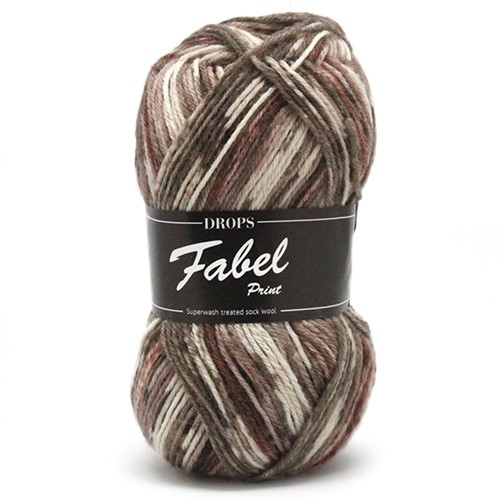 Drops Fabel Print 912 Soft-chocolate