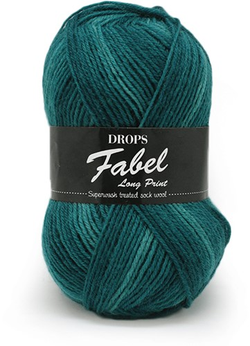 Drops Fabel Long Print 918 Smaragd