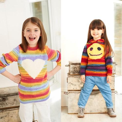 Breipatroon Stylecraft Wondersoft Merry Go Round DK No. 9397 Meisjes truien