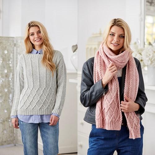 Breipatroon Stylecraft Batik DK No. 9423 Trui en sjaal