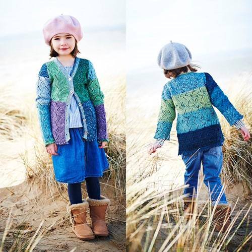 Breipatroon Stylecraft Batik Swirl DK No. 9539 Kinder vest en wanten