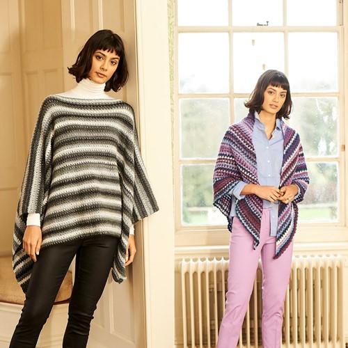 Haakpatroon Stylecraft Cabaret DK No. 9781 Poncho en sjaal