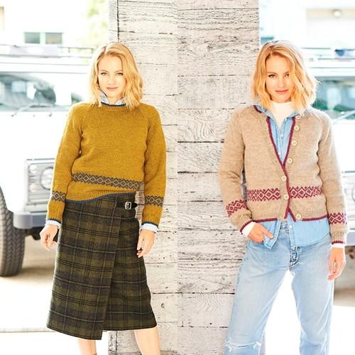 Breipatroon Stylecraft Highland Heathers DK No. 9794 Vest en trui