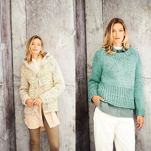 Breipatroon Stylecraft Special XL Tweed Super Chunky No. 9808 Jas en trui