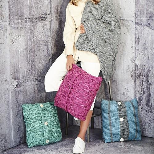 Breipatroon Stylecraft Special XL Tweed Super Chunky No. 9811 Deken en kussen