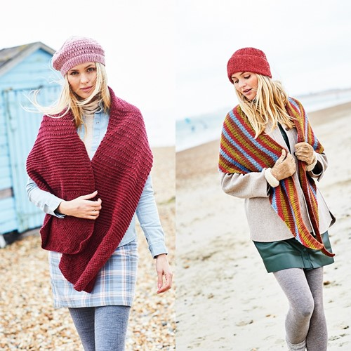Breipatroon Stylecraft Highland Heathers DK No. 9862 Sjaals en mutsen