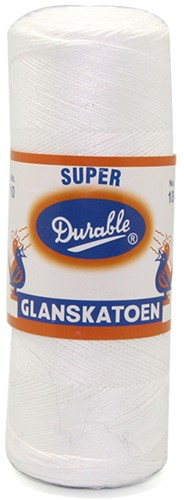 Durable Glanskatoen No. 10 09 Wit