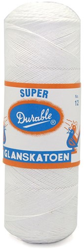 Durable Glanskatoen No. 12 09 Wit