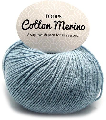 Drops Cotton Merino Uni Colour 9 IJsblauw
