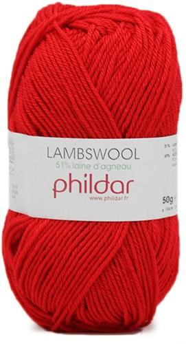 Phildar Lambswool 1038 Rouge
