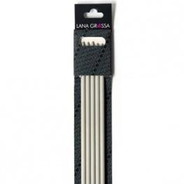 Lana Grossa 40cm kunststof kousenbreinaalden 6mm