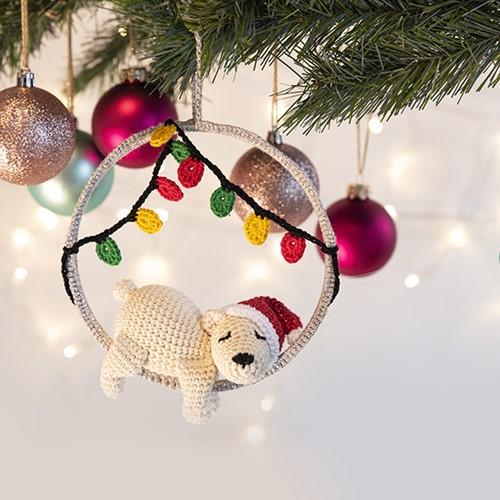 Haakpatroon IJsbeer Kersthanger