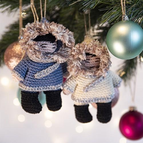 Haakpatroon Eskimo Kersthanger