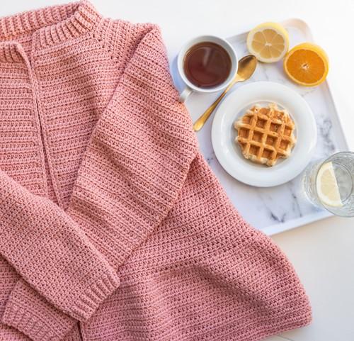 Yarn and Colors Afternoon Tea Cardigan Haakpakket 2 Rosé M