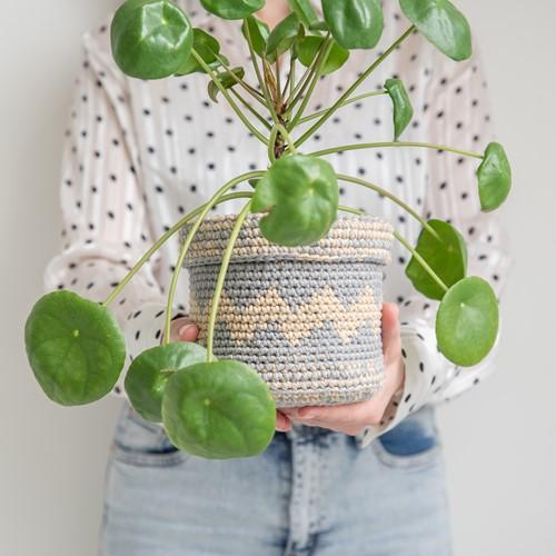 Yarn and Colors Basic Plant Baskets Haakpakket 096 Shark Grey