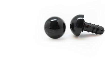Veiligheidsogen Zwart 7mm per paar