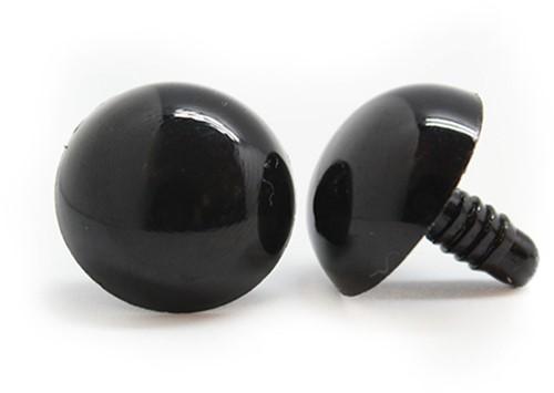 Veiligheidsogen Zwart 21mm per paar
