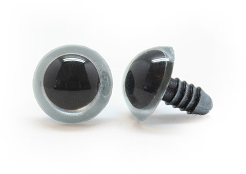 Plastic Veiligheidsogen Basic Zilver (per paar) 16mm