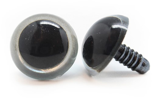 Plastic Veiligheidsogen Basic Zilver (per paar) 21mm