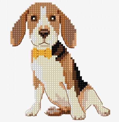 Borduurpatroon Hondje Beagle
