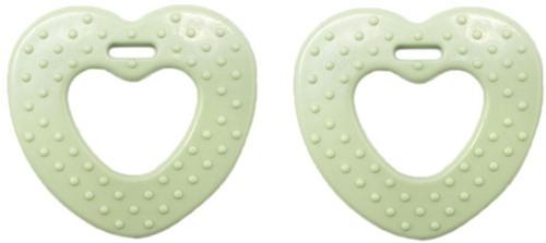 Durable Bijtring Hart met Noppen 369 Pastel Green
