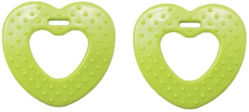 Durable Bijtring Hart met Noppen 567 Green