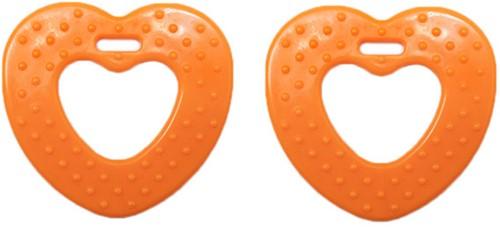 Durable Bijtring Hart met Noppen 693 Orange