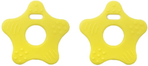 Durable Bijtring Ster 644 Light Yellow