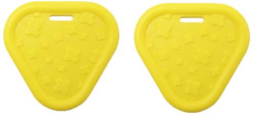 Durable Bijtring Triangel 645 Yellow