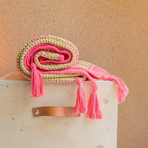 Yarn and Colors Boho Blanket Haakpakket 041 Coral