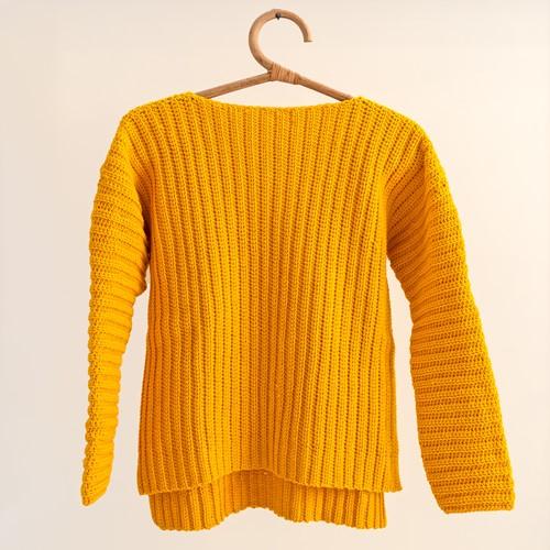 Yarn and Colors Brunch Time Sweater Haakpakket 1 Mustard XL