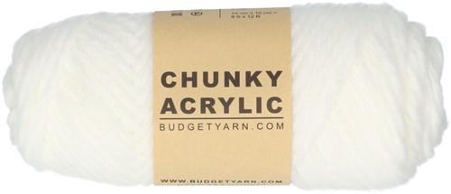 Budgetyarn Chunky Acrylic 001 White
