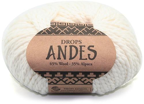 Drops Andes Uni Colour 1101 Wit