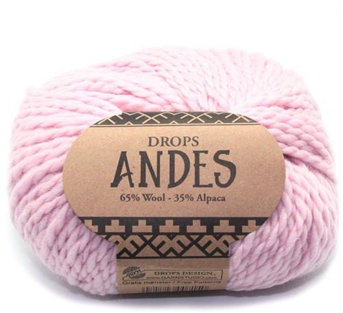 Drops Andes Uni Colour 3145 Poederroze