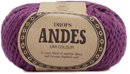 Drops Andes Uni Colour 4090 Heidekruid