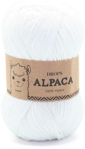 Drops Alpaca Uni Colour 101 Wit