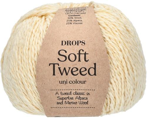 Drops Soft Tweed Uni Colour 01 Off white