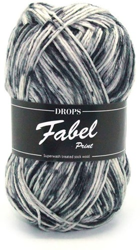 Drops Fabel Print 905 Salt and Pepper