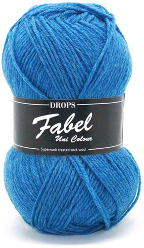 Drops Fabel Uni Colour 108 Royal Blue