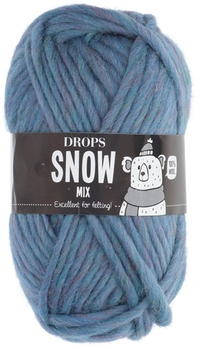 Drops Snow (Eskimo) Mix 84 Peacock blue