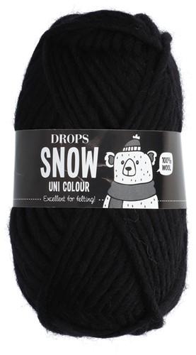 Drops Snow (Eskimo) Uni Colour 02 Black