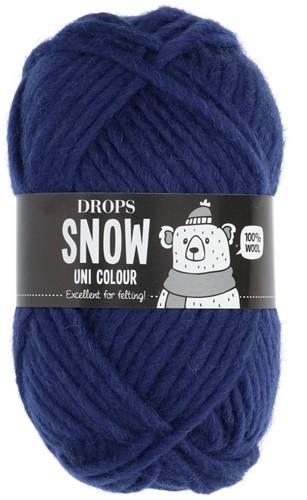 Drops Snow (Eskimo) Uni Colour 15 Dark blue