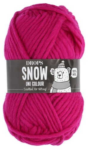 Drops Snow (Eskimo) Uni Colour 26 Hot pink