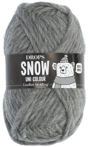 Drops Snow (Eskimo) Uni Colour 46 Medium grey