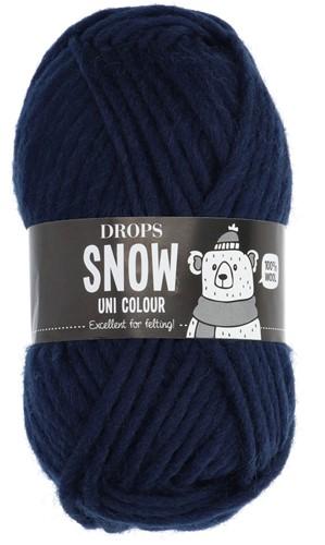 Drops Snow (Eskimo) Uni Colour 57 Navy blue