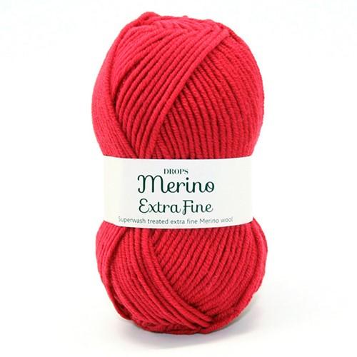 Drops Merino Extra Fine Uni Colour 11 Rood